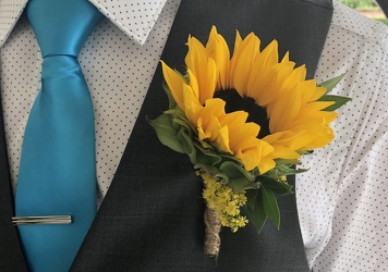 Sunflower Boutonniere from Nate's Flowers in Casper, WY