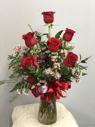 6 Red Roses from Nate's Flowers in Casper, WY