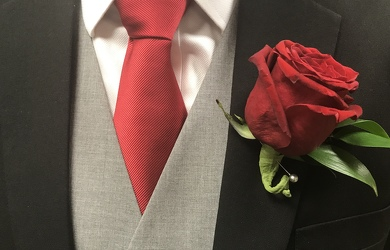 Red Rose Boutonniere  from Nate's Flowers in Casper, WY