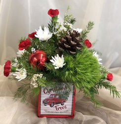 Merry Vintage Christmas Bouquet  from Nate's Flowers in Casper, WY