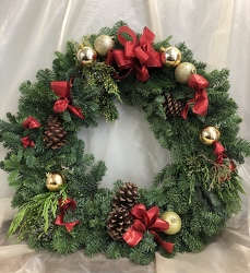 Wreath from Nate's Flowers in Casper, WY
