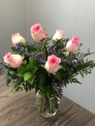6 Pink Roses from Nate's Flowers in Casper, WY
