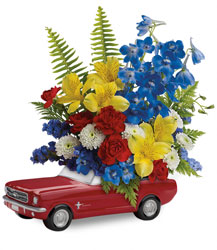 Teleflora's '65 Ford Mustang Bouquet  from Nate's Flowers in Casper, WY