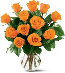 12 Orange Roses from Nate's Flowers in Casper, WY