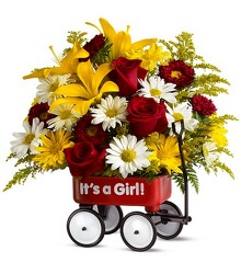 Teleflora's Baby's First Wagon - Girl - Deluxe from Nate's Flowers in Casper, WY